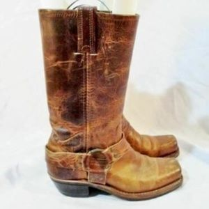 FRYE Leather MOTO HARNESS BOOTS